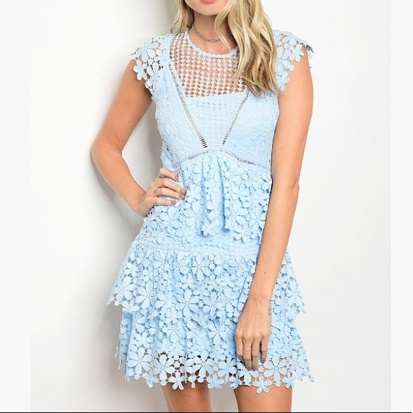 Dresses Baby Blue Crochet Summer Dress Poshmark